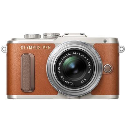 Olympus PEN E-PL8 Set + 14-42mm EZ, silber/braun