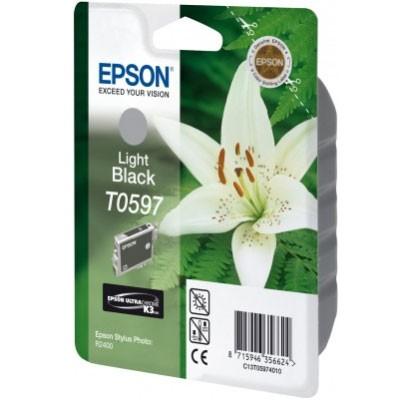 Epson Tinte (T0597) light schwarz für R2400