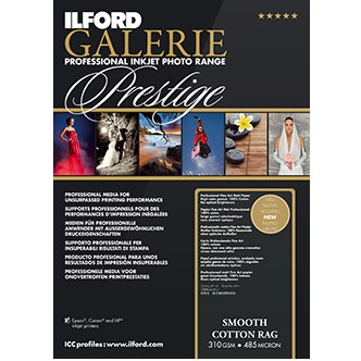 Ilford Galerie Prest. Smooth Cotton Rag A4 25Bl