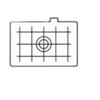 Canon Mattscheibe EC-D mit Gitterteilung f.EOS 1/3