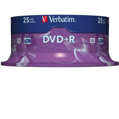 Verbatim DVD+R, 4,7 GB, 25er Spindel