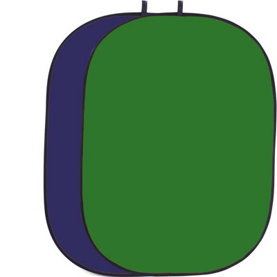 HELIOS Falthintergrund Chromakey grün+blau 150x200