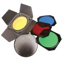 HELIOS Lichtklappen-Set m.Wabenfilter+4 Farbfolien