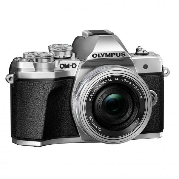Olympus OM-D E-M10 Mark III+14-42EZ Pancake silber