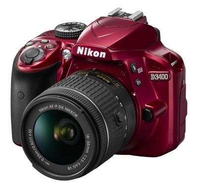 Nikon D3400 Set + AF-P 18-55mm VR, rot