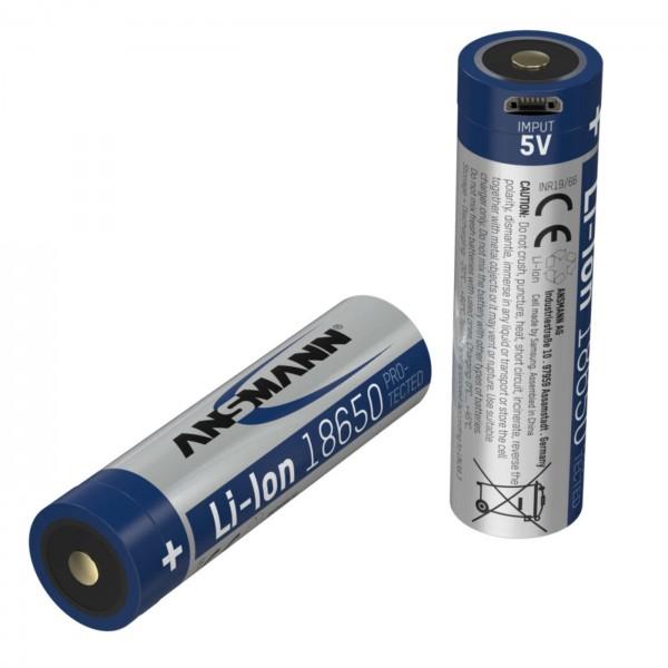 Ansmann LI-ION Akku 2600mAh m.Micro USB Ladebuchse