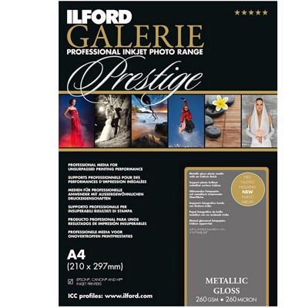 Ilford Galerie Prest.Metallic Gloss 260g. A2 25Bl.