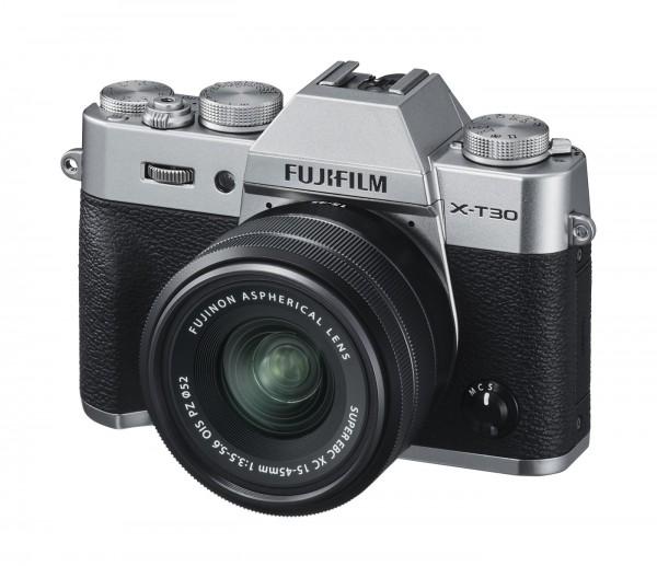 Fuji X-T30 Set + XC 15-45mm, silber