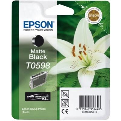 Epson Tinte (T0598) matt schwarz für R2400