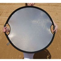 Sun - Mover Faltreflektor 85x79cm, silber/weiß