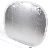 Lastolite Faltreflektor silber/weiß quadrat. 58cm