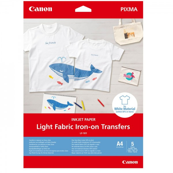 Canon LF-101 T-ShirtTransferfolie helle Stoffe A4