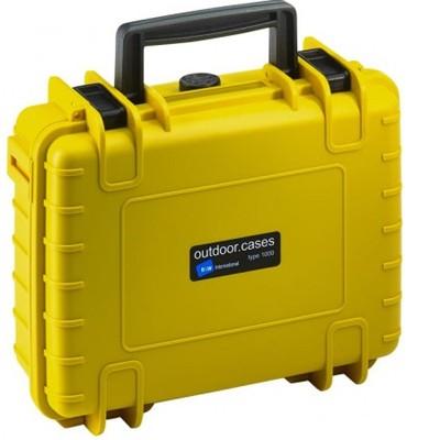 B&W Outdoor Koffer Typ 1000 m. Schaumstoff gelb