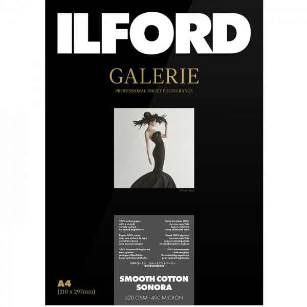 Ilford Galerie Smooth Cotton Sonora 320g A3 25Bl.