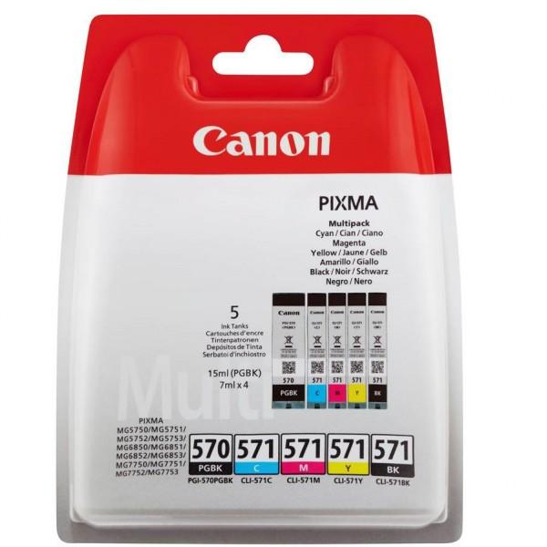 Canon Tinte PGI-570 Multipack PGBK/C/M/Y/BK