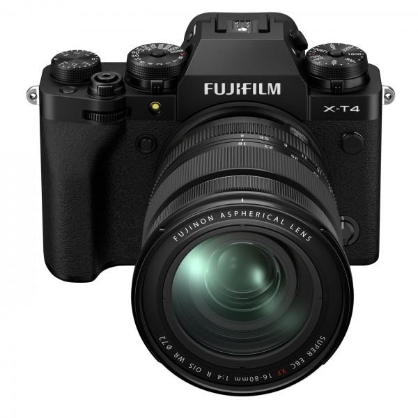 Fuji X-T4 Set + XF 16-80 mm, schwarz