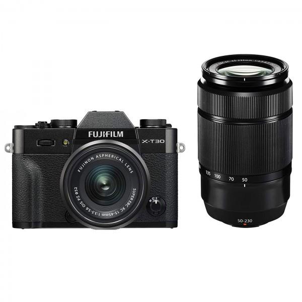 Fuji X-T30 Set +XC15-45mm+XC 50-230mm II, schwarz