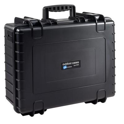 B&W Outdoor Koffer Typ 6000 m. Einteilung schwarz
