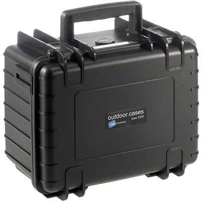 B&W Outdoor Koffer Typ 2000 m. Einteilung schwarz
