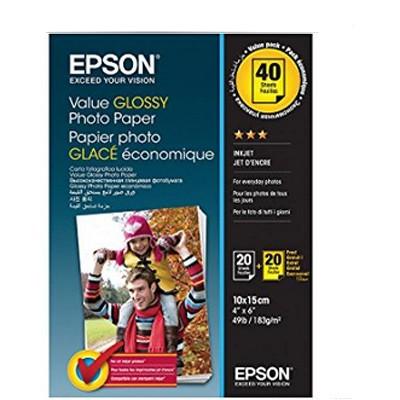 Epson Value Glossy PhotoPaper 183g, 2x20 Bl. 10x15