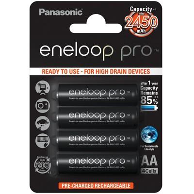 Panasonic eneloop Pro Mignon AA 2450 mAh, 4 Stück