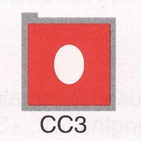 Cromatek Colorspot oval rot CC3
