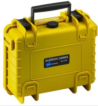 B&W Outdoor Koffer Typ 500 m. Schaumstoff gelb