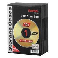 Hama DVD-Leerhüllen Slim 10, schwarz 10er Pack