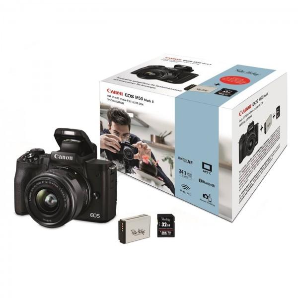 Canon EOS M50 Mark II Set + 15-45mm, schwarz