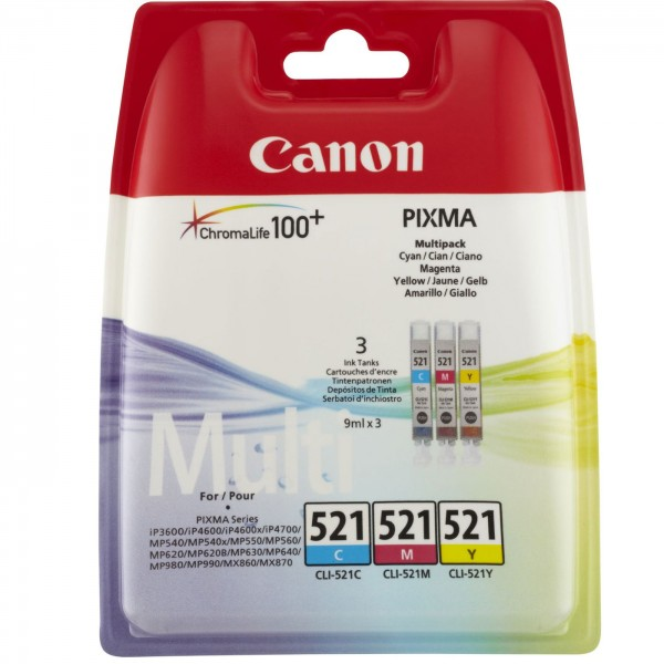 Canon Tinte CLI-521 CMY Multipack