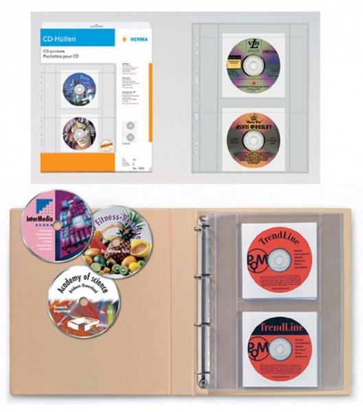 Herma transparente CD-Hüllen für 20 CDs