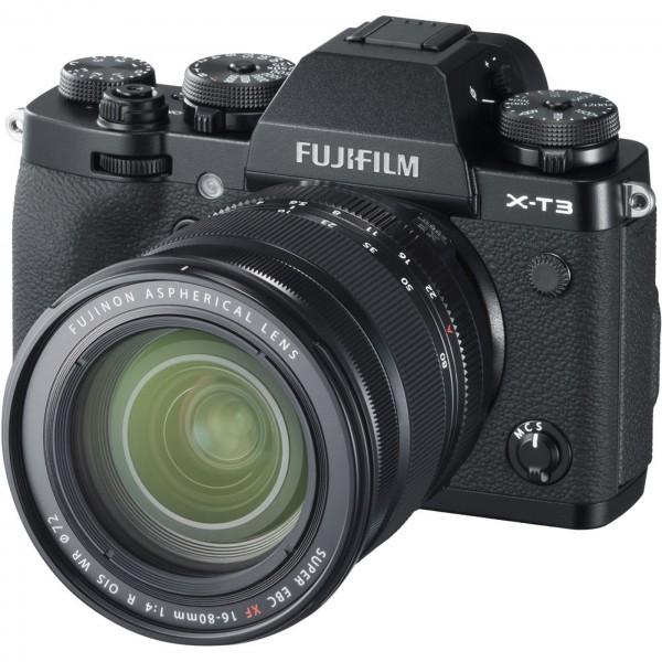 Fuji X-T3 Set + XF 16-80 mm, schwarz