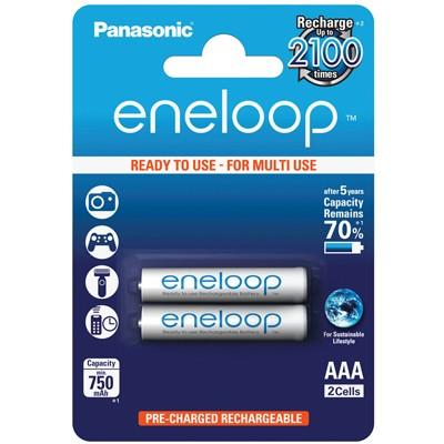 Panasonic eneloop Micro Akkus AAA 750mAh, 2 Stück