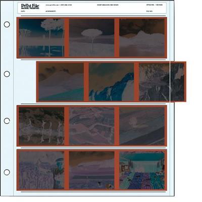 Negativ-Ablageblätter PE für 4x3er Streifen 120
