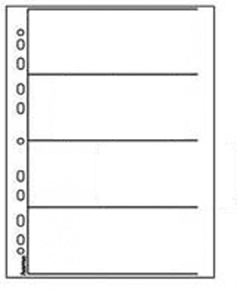 Neg.Ablageblätter klar 4 Streifen Rollfim
