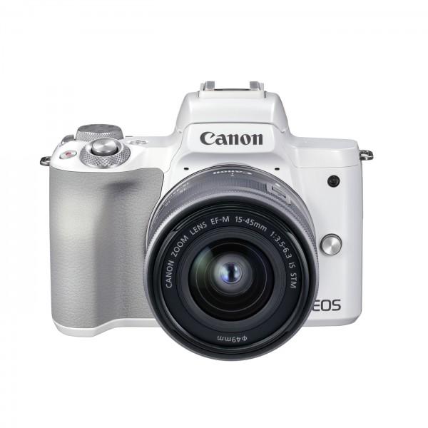 Canon EOS M50 Mark II Set + 15-45mm, weiß