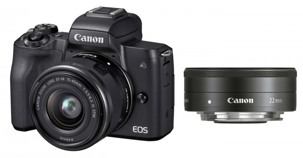 Canon EOS M50 Set + EF-M 15-45 + 2/22, schwarz