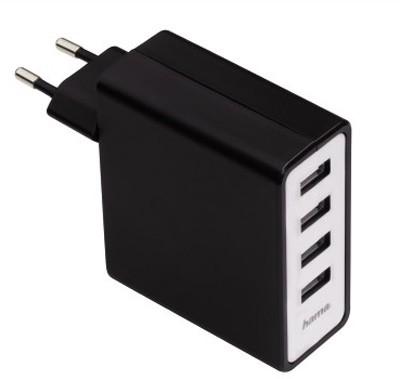 Hama 4 Port USB-Ladegerät 4.8A