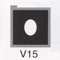 Cromatek Vignetten schwarz oval groß V15