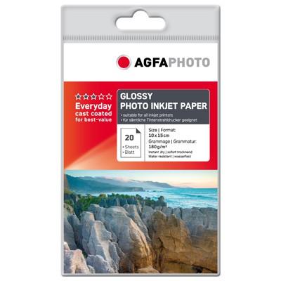 Agfa Photo Inkjet Papier glossy, 20Bl.10x15cm 180g