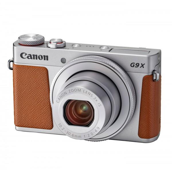 Canon PowerShot G9 X Mark II, silber/braun