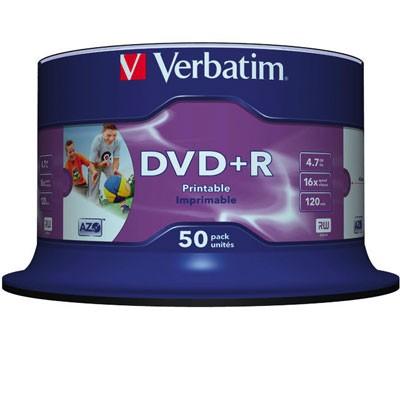 Verbatim DVD+R Inkjet, 4,7 GB, 50er Spindel