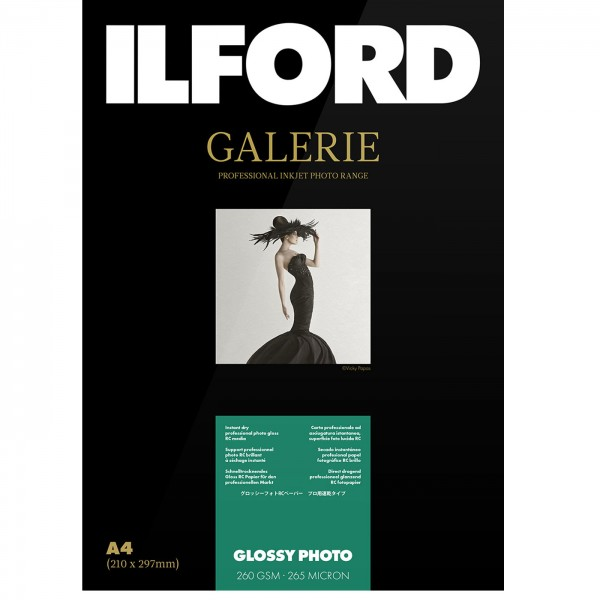 Ilford Galerie Glossy Photo 260g DIN A4, 25 Blatt