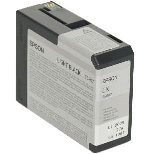 Epson Tinte light black 80ml (T5807)