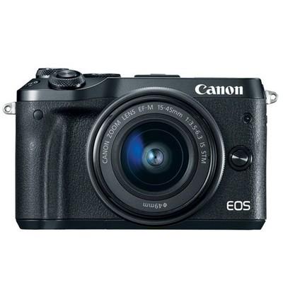 Canon EOS M6 Set + EF-M 15-45mm IS STM schwarz