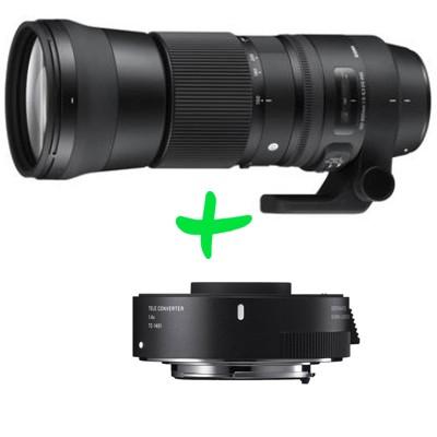 """Sigma 5-6,3/150-600 DG OS HSM """"C""""+TC-1401 f.Nikon"""