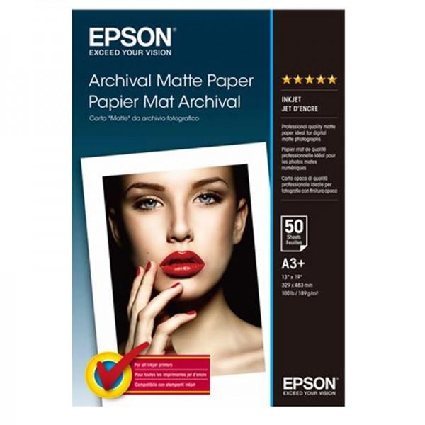 Epson Archival Matte 189g, 50 Bl., A3+