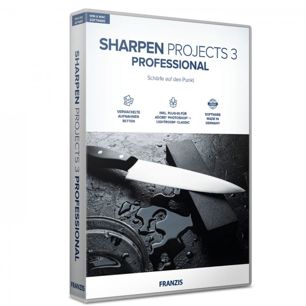 Franzis Sharpen projects 3 professional