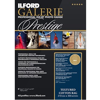 Ilford Galerie Prest.Textured Cotton Rag A4 25Bl
