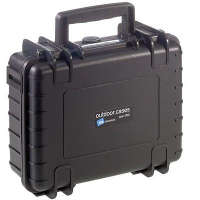 B&W Outdoor Koffer Typ 1000 m. Einteilung schwarz
